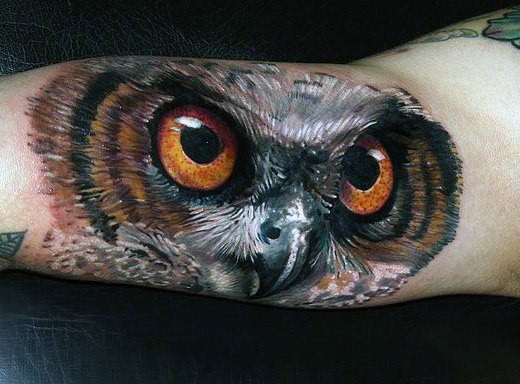 Realistic Owl Eye Tattoo Mens Forearm Tattoo Pictures