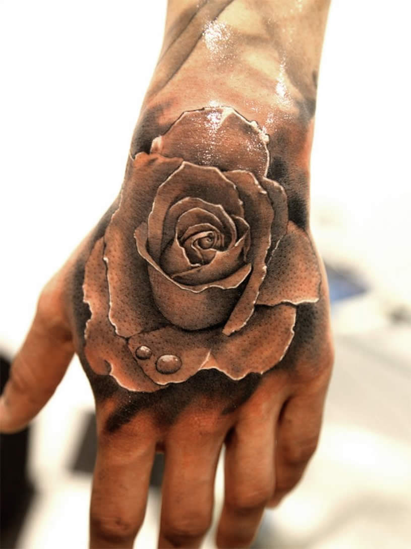 Water Color Rose On Your Hand Tattoo Pictures Tattoo Pictures